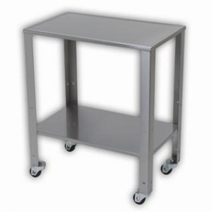 Table Baby Ss W/Adj Shelf &Whls