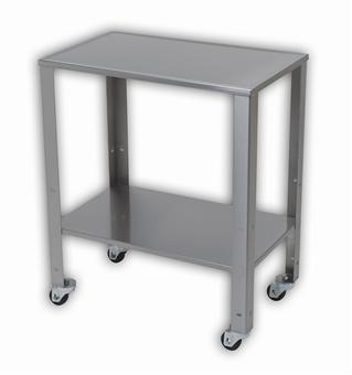 Table Baby Ss W/Adj Shelf &Whls 1